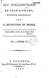 Les prédictions de Jean Gorani, citoyen français, sur la Révolution de France