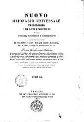 Nuovo dizionario universale tecnologico o di arti e mestieri e della economia industriale e commerciante compilato dai signori Lenormand, Payen, Molard Jeune... [et al.]: MOZ-PES, Volume 9
