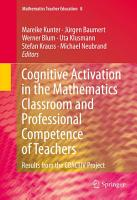Cognitive Activation in the Mathematics Classroom and Professional Competence of Teachers PDF