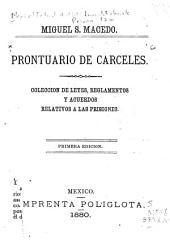 Prontuario de carceles: Colección de leyes, reglamentos y acuerdos relativos á las prisiones