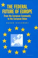 The Federal Future of Europe PDF