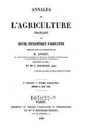 Annales de l'agriculture francoise. Red. par ... Tessier: Volume5;Volume11