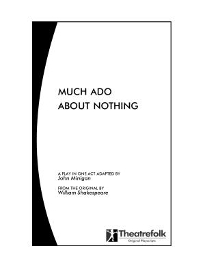 Much Ado about Nothing : a Play in One Act