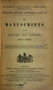 The Manuscripts of the House of Lords: Volume 2