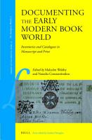 Documenting the Early Modern Book World PDF