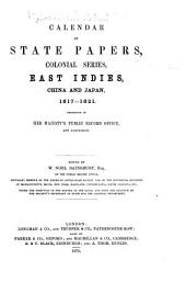 East Indies, China and Japan, 1617-1621