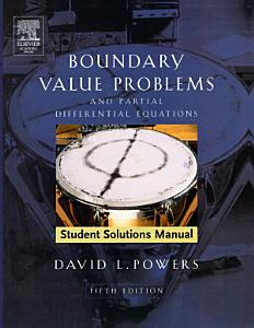 Student Solutions Manual to Boundary Value Problems PDF