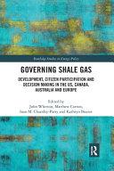 Governing Shale Gas