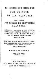 El ingenioso hidalgo Don Quixote de la Mancha: Volumen 7