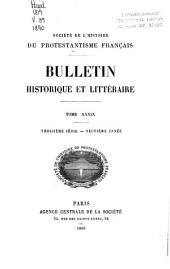 Bulletin historique et littéraire: Volume39