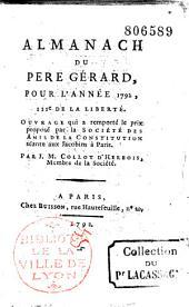Almanach du Père Gérard pour 1792