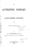 An Authentic History of Lancaster County PDF