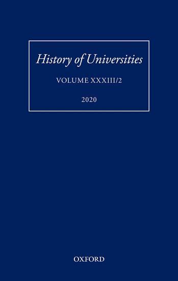 History of Universities XXXIII 2 PDF