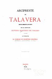 Arcipreste de Talavera: (Corvacho ó Reprobación del amor mundano)