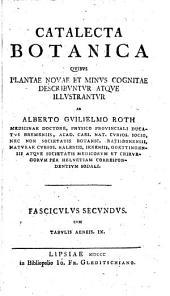 Catalecta botanica: quibus plantae novae et minus cognitae descriuntur atque illustratur \, Part 2
