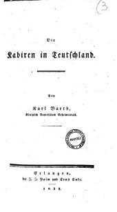 Die Kabiren in Teutschland von Karl Barth