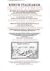 Rerum italicarum scriptores: Volume 2, Part 1