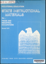 Vocational Education : State Instruction Materials for ...