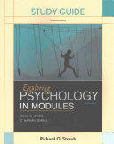 Study Guide for Exploring Psychology in Modules