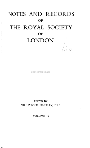 Notes and Records of the Royal Society of London