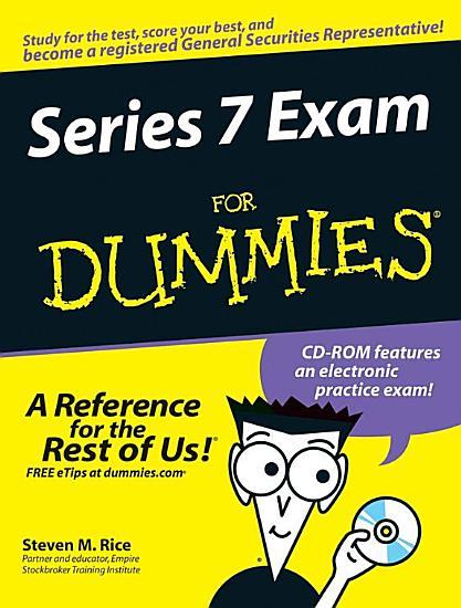 Series 7 Exam For Dummies PDF