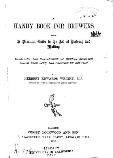 A Handy Book for Brewers PDF