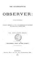 The Ecclesiastical Observer PDF
