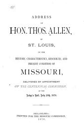 Missouri, Its History, Characteristics, Resources, and Present Condition