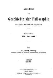 Grundriß der Geschichte der Philosophie: ¬Die Neuzeit, Band 3