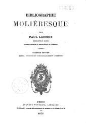 Bibliographie moliéresque: Volume1