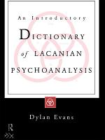 An Introductory Dictionary of Lacanian Psychoanalysis PDF