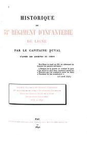 Historique du 53me régiment d'infanterie de ligne: d'après les archives du corps