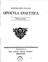 Opuscula analytica