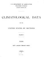 Climatological Data for the United States by Sections PDF