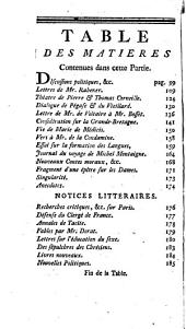 L'Esprit des journaux, françois et étrangers: Numéros4à6