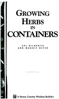 Growing Herbs in Containers PDF