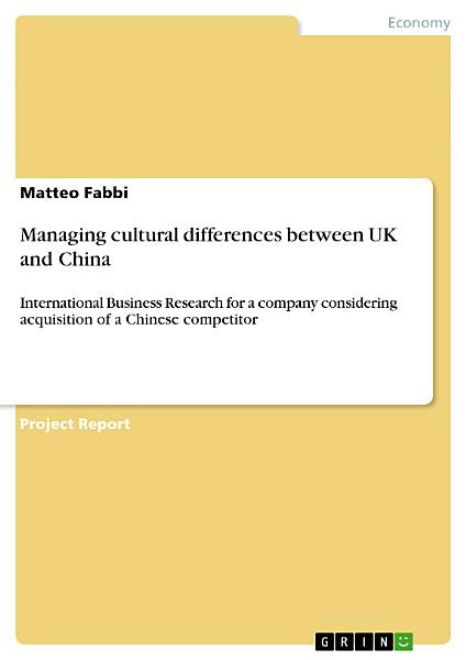 Managing cultural differences between UK and China