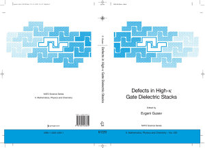 Defects in HIgh k Gate Dielectric Stacks PDF