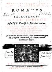 Catechismus romanus ex decreto Sacrosancti Concilii Tridentini iussu Pij v. Pontificis Maximi editus, etc