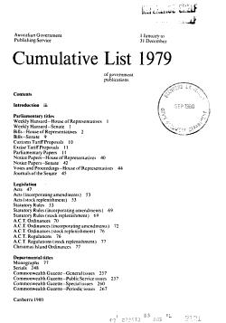 Cumulative List of Government Publications PDF