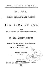 Notes Critical  Illustrative and Practical on the Book of Job PDF
