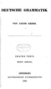 Deutsche Grammatik. Erster Theil: Band 1,Ausgabe 1