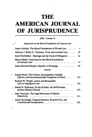 The American Journal of Jurisprudence