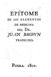 Epitome de los elementos de medicina
