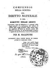 Compendio della scienza del diritto naturale e del diritto delle genti ... per M. Malepeyre