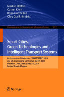 Smart Cities, Green Technologies and Intelligent Transport Systems