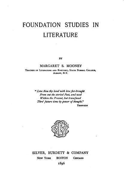 Download Foundation Studies in Literature Book