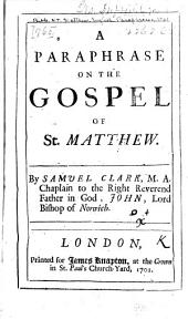 A paraphrase on the Gospel of St. Matthew