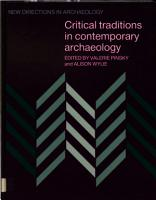 Critical Traditions in Contemporary Archaeology PDF