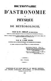 Dictionnaire d'astronomie, de physique et de meteorologie